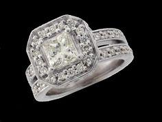 Princess Cut Diamond Eng. Ring