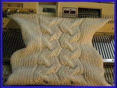 Имитация кос с помощью эффекта Клоке от Натальи Шишкиной - Машинное вязание - Страна Мам