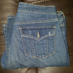 Women's jeans Old Navy Sweetheart jeans regular fit with button  back pockets. Old Navy Jeans Boot Cut