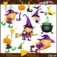 HALLOWEEN Witchery - Clip art set in Png & Jpeg fies.