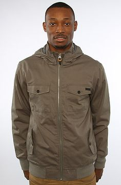 The Captain Cotton Jacket in Spruce by Nixon: Size XL $120 NEED a nice jacket.