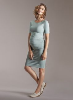 Ruched T-Shirt Maternity Dress | ISABELLA OLIVER | Maternity Dress