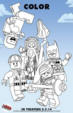 Color in The LEGO(R) Movie - Free Printable Coloring Pages