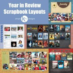 Year in Review Scrapbook Layouts by Simply Kelly Designs
