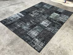 Dark color, Patchwork Rug, 7x10ft, Anatolian Rug, Patchwork Carpet, 216x307cm, Oushak Rug, Area Rug, patchwork carpet by EclecticRug on Etsy