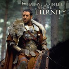 """Russell Crowe garbed as a Roman General in """"Gladiator"""", movie, Gladiator Quotes, Gladiator Movie, The Gladiator, Gladiator Maximus, Russell Crowe Gladiator, Samurai, Roman Warriors, Roman Soldiers, Warrior Quotes"""
