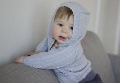 Woollen Hooded Cardi Vintage Blue