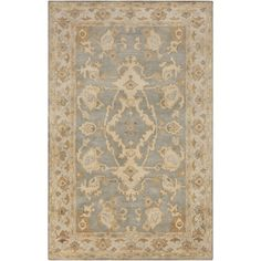 Hand-Tufted Malvern Medallion Indoor Wool Rug (5' x 7'6)   Overstock.com Shopping - The Best Deals on 5x8 - 6x9 Rugs