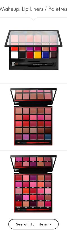 """""""Makeup: Lip Liners / Palettes"""" by katiasitems on Polyvore featuring beauty products, makeup, lip makeup, lips, filler, palette makeup, anastasia beverly hills cosmetics, anastasia beverly hills makeup, anastasia beverly hills and open"""