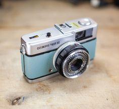 Vintage Olympus Trip35 / Mint Leather / LightBurn Film Camera / Street Camera