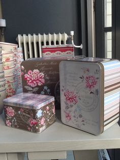 GreenGate Tin Boxes Penelope Brown. New GreenGate collection arrived at www.originated-shop.nl