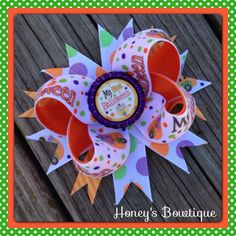 My First Halloween Hair Bow on Etsy, $5.99