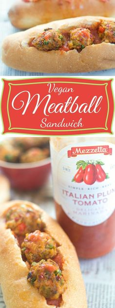 This easy meatball sandwich recipe (vegan) is made with sweet potato and cauliflower plus other fresh veggies. Perfect vegetarian lunch or dinner