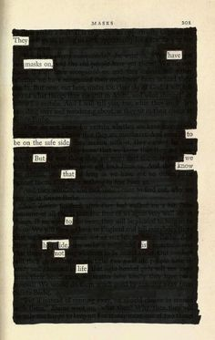 Masks | Blackout Poetry