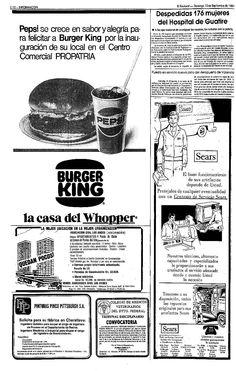 Burger King. Publicado el 13 de septiembre de 1981.