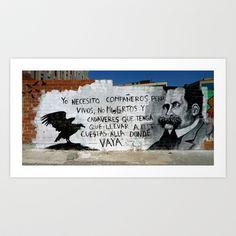Compañeros vivos Art Print by Plasmodi - $16.00 Photo Art, Street Art, Polaroid Film, Prints, Decor, Decorating, Dekoration, Deco, Printmaking