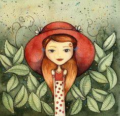 Illusztrátor Pajtások: Piros kalap Everyday Objects, Whimsical Art, Disney Characters, Fictional Characters, Illustration Art, Illustrator, Disney Princess, Journalling, Google