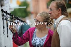 River Raisin Jazz Festival and Art Fair 2011 in downtown Monroe. Photo by Bryan Bosch for The Monroe Evening News.