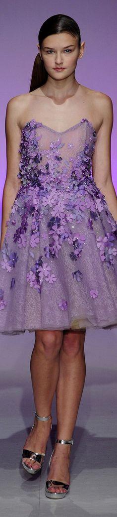 Lavender and Purple Armani Prive, Purple Fashion, High Fashion, Floral Fashion, Womens Fashion, Elie Saab, Gala Dresses, Wedding Dresses, Sparkly Dresses