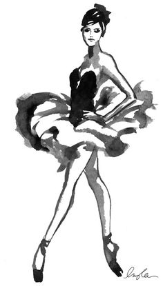 Ballerina ~ Illustration by Inslee Haynes Ballet Art, Ballet Painting, Dance Like No One Is Watching, Ballet Beautiful, Dance Art, Art Plastique, Fashion Art, Illustration Art, Ballerina Illustration