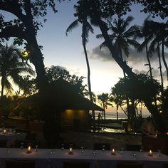 Oberoi, Bali outdoor dining.