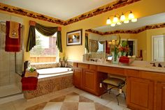 Master bath - I like the vanity in the middle - the one door could go into walk in closet