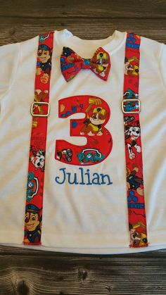 Paw Patrol Birthday shirt by MeandMissZippy on Etsy