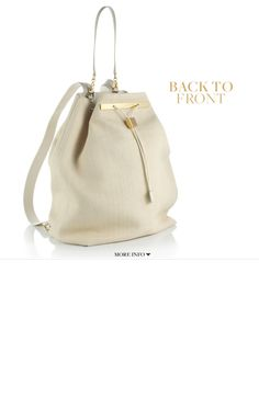 Chic backpack by the Row.  Perfect for a Mama.