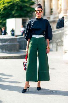 As pantacourts e calças cropped, que podem ser usadas com botas skinny nos dias mais gelados.