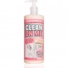Soap & Glory Clean On Me Creamy Clarifying Shower Gel 500ml by Soap & Glory. $9.99. A very popular pick amongst the 'love-to-scrub-up' club, this super-sized Soap & Glory Clean On Me Creamy Clarifying Shower Gel 500ml has a bonus, built in body lotion, so you can get clean, smooth, sexy skin simultaneously