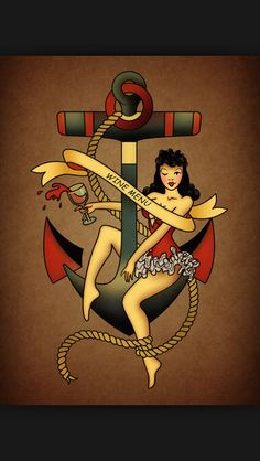 Sailor Jerry tattoo-scratch wine menu but the rest is awesome.