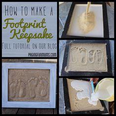 DIY Plaster Footprints