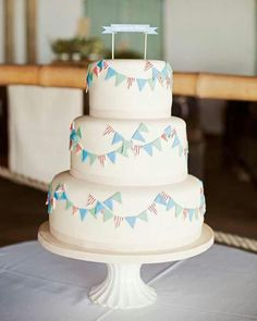 cake with bunting