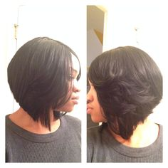 Quick weave bob  @imperfectly_natural1