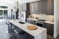 Contemporary kitchen at The Ridge in Nanaimo.