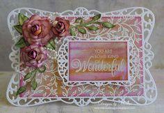 Designs by Marisa: JustRite Papercraft September Release - Filigree Leaves Background Stamp