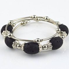 Bracelet - 'Historic' Lava Stone Essential Oil Bracelet Diffuser
