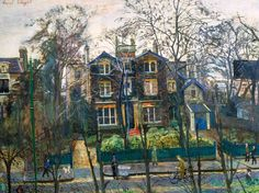 The Ghost House - Carel Weight Urban Landscape, Landscape Art, Landscape Paintings, London Painting, Ghost House, Royal College Of Art, Art Uk, Travel Posters, Online Art