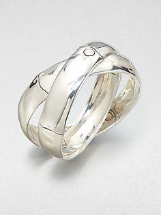John Hardy Sterling Silver Interlocking Bracelet