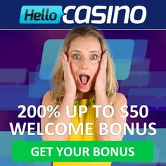 Updated Hello Casino Review! Get our EXCLUSIVE offer of 25 Free Spins No Deposit Required on ANY NetEnt Slot you want + 100% Bonus & EXTRA 50 Free Spins.