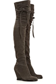 #1 on Christmas List. Thigh-high wedge boots, hot.