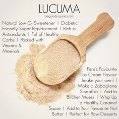 10 Great Reasons to Love Lucuma: A citrusy sweet South American superfood to add to your armoury. http://begoodorganics.com/blogs/begoodness/8952515-10-great-reasons-to-love-lucuma
