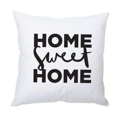 Home Sweet Home Cushion Cover  Illustrated Cotton by OldEnglishCo, £15.00