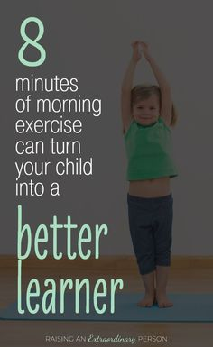 8 Minute Morning Workout for Kids - ADHD & Autism Resources for Parents Learn how exercising in the morning actually makes kids better learners - helping them focus and retain more information to memory - helps kids with ADHD and autism too . Adhd And Autism, Adhd Kids, Kids With Autism, Adhd In Girls, 4 Kids, Yoga For Kids, Exercise For Kids, Toddler Exercise, Kids Workout