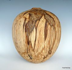 """Spalted beech hollow form 6 1/2"""" tall by 5 1/2"""" wide"""
