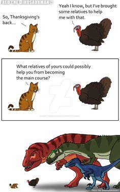 prehistoric creatures Thanksgiving Backup by FredtheDinosaurman on deviantART Funny Animal Memes, Funny Animals, Cute Animals, Funny Memes, Jokes, Funny Sarcasm, Jurassic World Dinosaurs, Jurassic Park World, Dinosaur Drawing