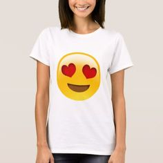 Big Heart Eyes Love Emoji T-shirt - valentines day gifts love couple diy personalize for her for him girlfriend boyfriend Heart Face Emoji, Eyes Emoji, Emoji Faces, T Shirt Storage, Funny Emoticons, Emoji Shirt, Emoji Pictures, Heart Eyes, Shirt Shop