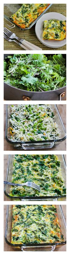 Baby Kale, Mozzarella, and Egg Bake (and Ten More Ideas for Starting Your Day with Kale.)  [from Kalyn's Kitchen]