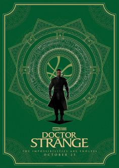 Marvel and Matt Ferguson (Lord Of The Rings, Guardians of the Galaxy) have released four brand new stylized posters for Doctor Strange, featuring the titular hero, The Ancient One and more. Marvel 616, Marvel Comics, Poster Marvel, Marvel Movie Posters, Movie Poster Art, Marvel Comic Books, Marvel Heroes, Poster Series, Marvel Characters
