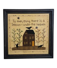 Look what I found on #zulily! 'Season' Framed Wall Art by Pearson's Simply Primitives #zulilyfinds